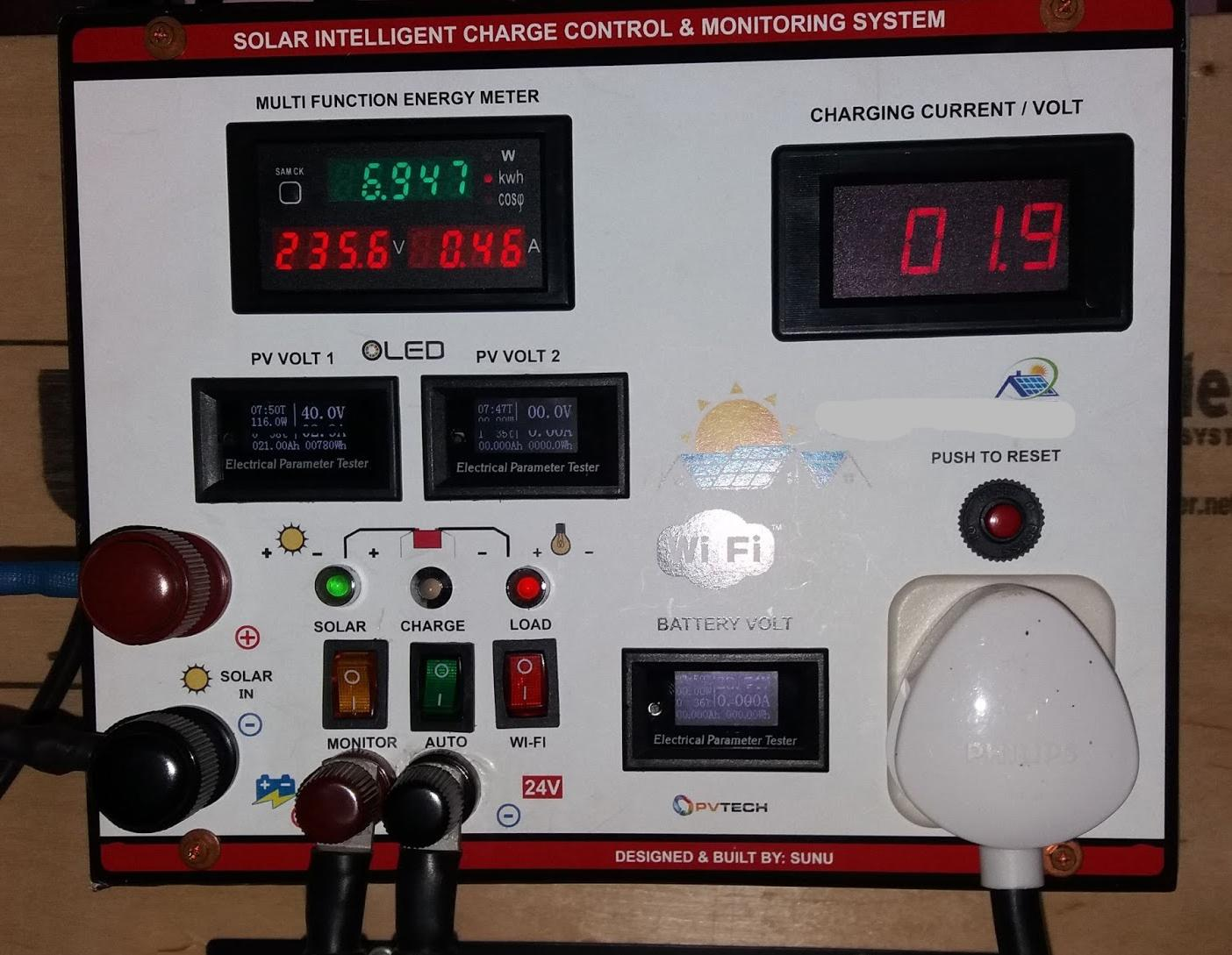 My solar monitoring console