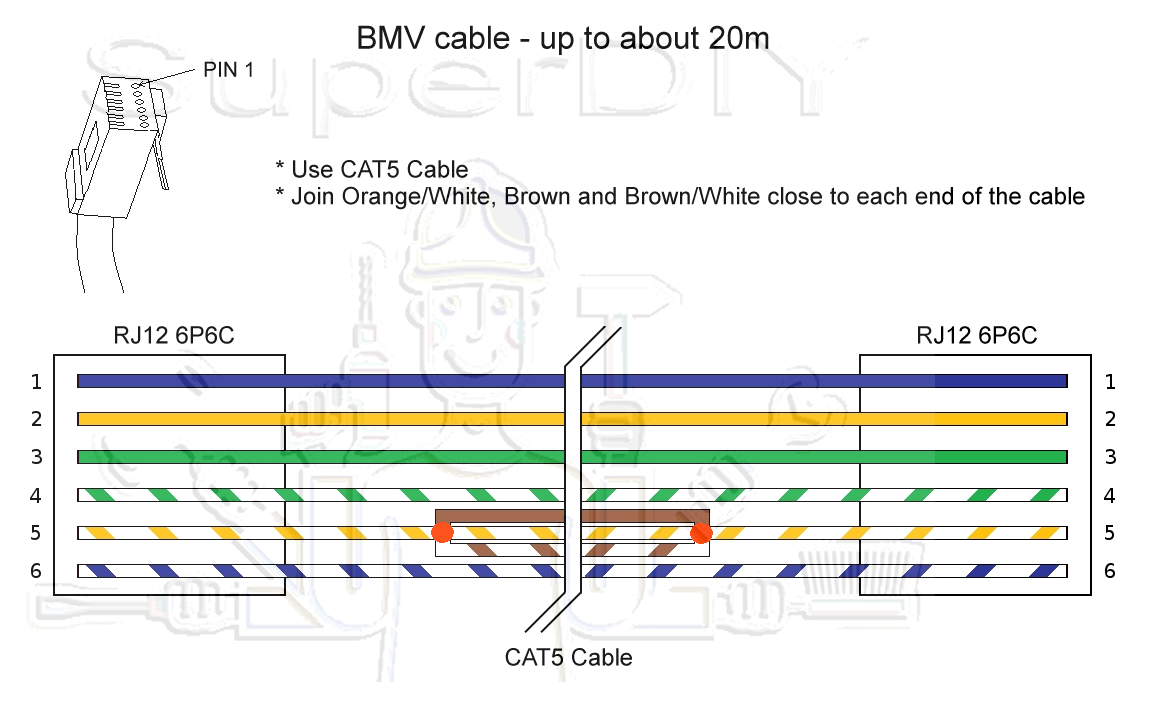 Bmv702 Installation With 20m Cable  - Batteries