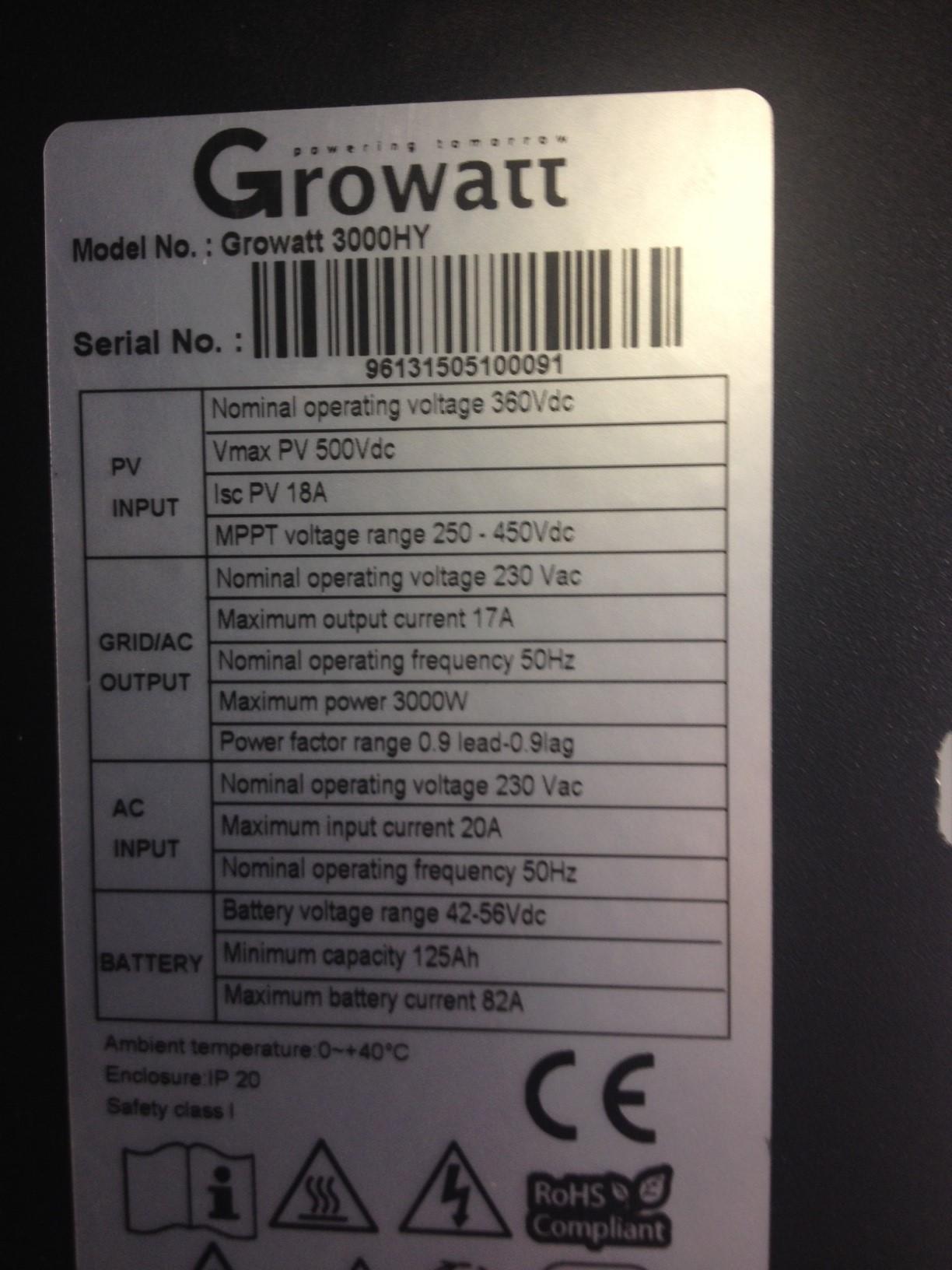 New 3KW Infini install - Inverters - Power Forum - Renewable