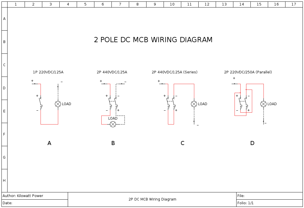 Double Pole Dc Mcb In Parallel - Accessories - Power Forum